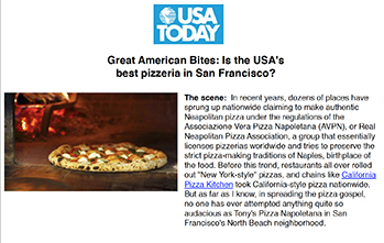 Great American Bites: Is the USA's best pizzeria in San Francisco?