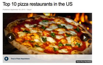 Top 10 pizza restaurants in the US