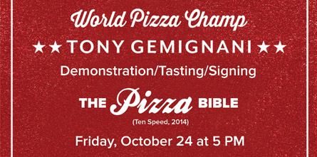 The Pizza Bible Demonstration/ Tasting/Signing