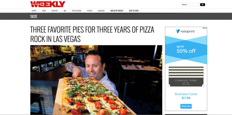Three favorite pies for three years of Pizza Rock in Las Vegas