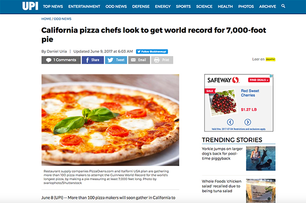 California pizza chefs look to get world record for 7,000-foot pie