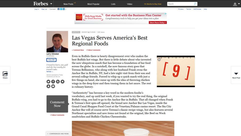 Las Vegas Serves America's Best Regional Foods