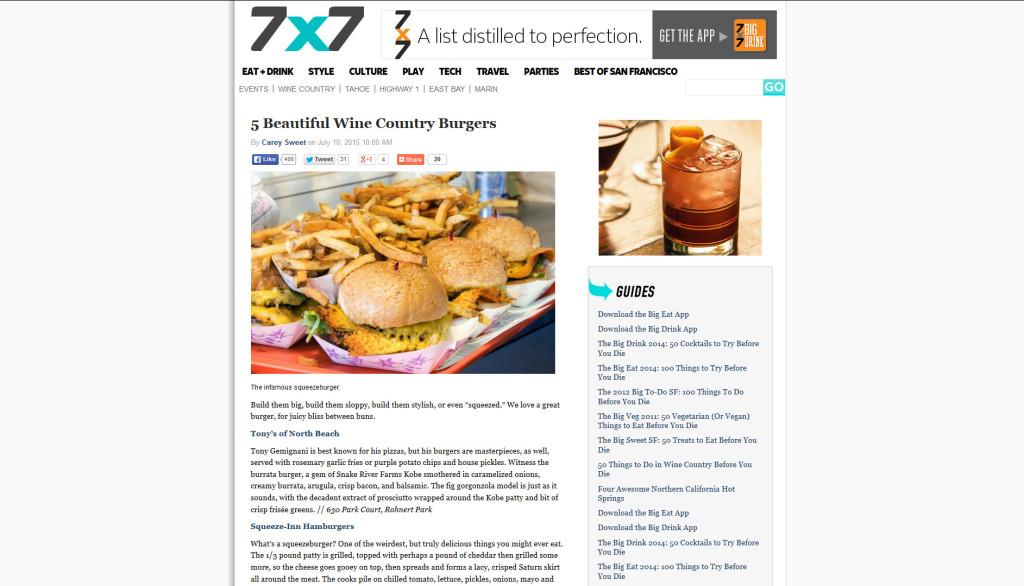 5 Beautiful Wine Country Burgers