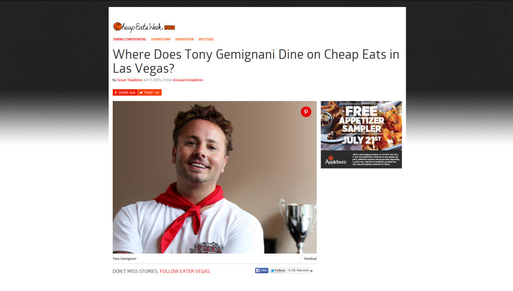 Where Does Tony Gemignani Dine on Cheap Eats in Las Vegas?