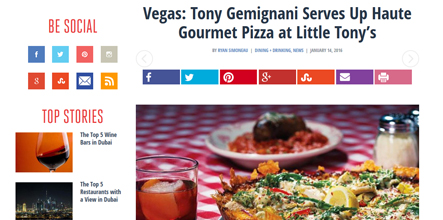 Vegas: Tony Gemignani Serves Up Haute Gourmet Pizza at Little Tony's